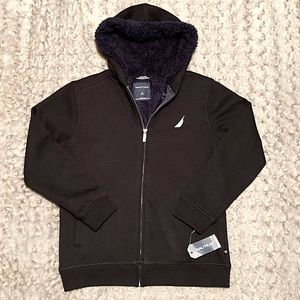 Boys Nautica hoodie paid $49 size M 10-12 New!